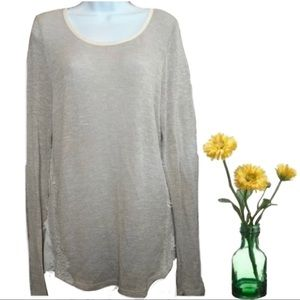 Society Girl / Long Sleeve Top /  Beige / Size XL
